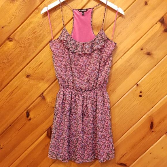 Express Dresses & Skirts - Express Floral Pink Dress size small